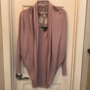 BCBG Maxaria cardigan with lace